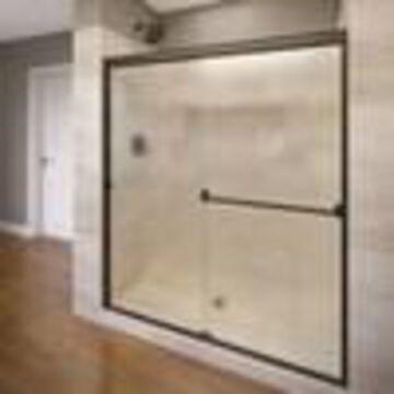 Basco Classic 52-in to 56-in W Semi-frameless Bypass/Sliding Oil Rubbed Bronze Shower Door