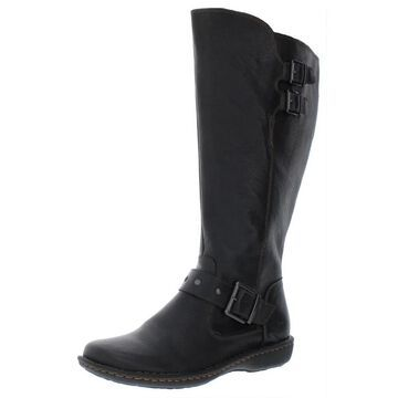 B.O.C. Womens Oliver Riding Boots Leather Wide Calf