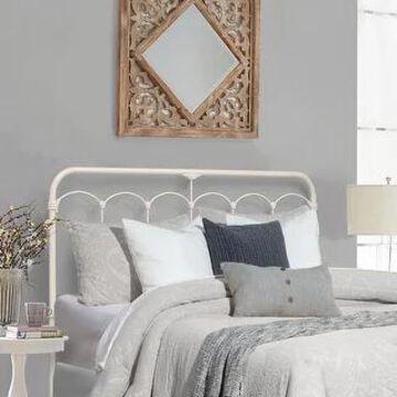 Hillsdale Furniture Jocelyn Metal Headboard, Soft White