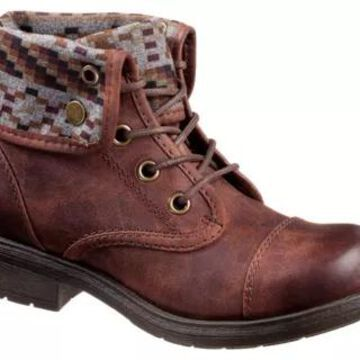 Natural Reflections Sarah Lace Up Boots for Ladies - Brown - 6M