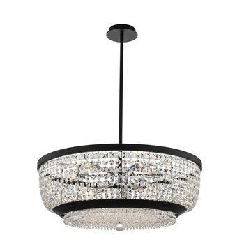 Allegri 037355052FR001 Nine Light Pendant Terzo Matte Black w Polishe - One Size (One Size - Clear)