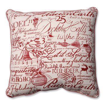 Pillow Perfect Holiday Poinsettia Pillow