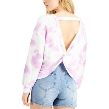 Bar Iii Tie-Dyed Twist-Back Sweatshirt, Created for Macy's