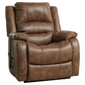 Signature Design by Ashley Yandel Brown Power Lift Recliner (Power Lift Recliner)