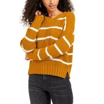 Hippie Rose Juniors' Striped Sweater