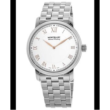 Montblanc Tradition Manual Winding White Dial Steel Men's Watch 119963 119963