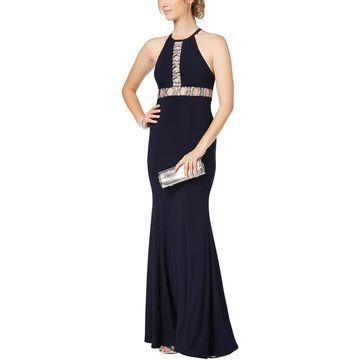 Xscape Womens Evening Dress Halter Full-Length