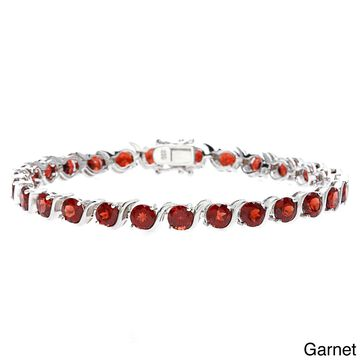 Sofia Sterling Silver and Gemstone Bracelet