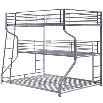 ACME FURNITURE Caius II Silver Twin Over Queen Bunk Bed   37790