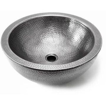 Houzer HW-DOLCE15S Hammerwerks Series Pewter Double Wall Vessel Sink