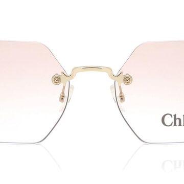 Chloe CE 2147/S 717 Womenas Sunglasses Gold Size 50
