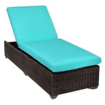 TK Classics Venice Wicker Patio Lounge, Aruba