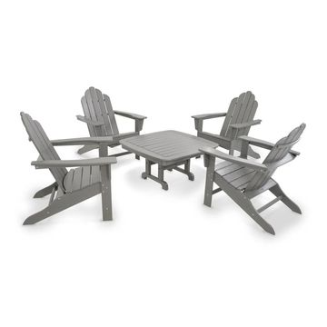 POLYWOOD Long Island Adirondack Chair 5-Piece Conversation Group
