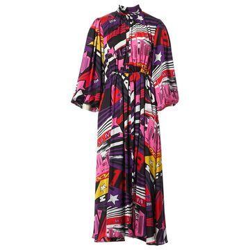 Msgm Purple Viscose Dresses