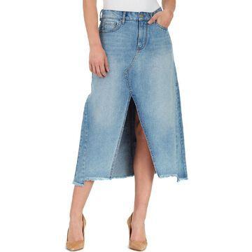 William Rast Womens Denim Split Hem Maxi Skirt
