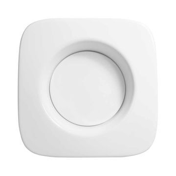 Ronbow Union Drop-in White Ceramic Square 16-inch Vessel Sink without Overflow