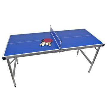 Poolmaster Outdoor Backyard Junior Table Tennis Ping Pong Table, Paddles & Balls