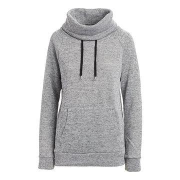 Derek Heart Women's Sweatshirts and Hoodies GREY - Gray Fleece Cowl Neck Sweatshirt - Juniors