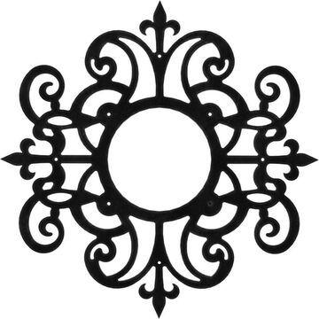 Ekena Millwork Dijon Metal Pierced 20 x 20 Metal Ceiling Medallion in Black