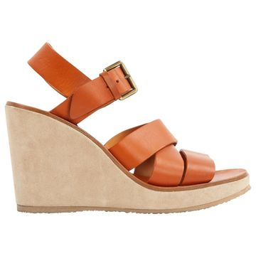 Apc \N Brown Leather Sandals