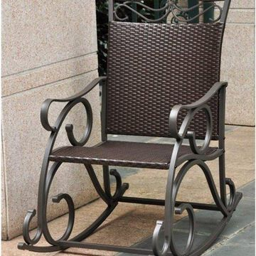 International Caravan Valencia Resin Patio Rocker, Chocolate