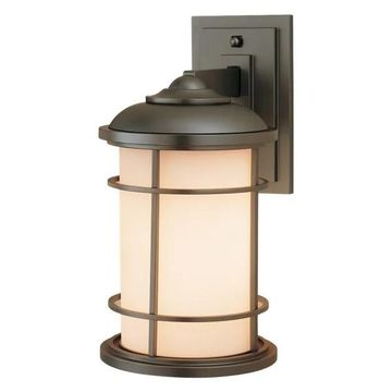 Feiss Lighthouse 1-Bulb Burnished Bronze Outdoor