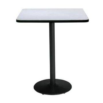 "KFI Mode Square Bistro Breakroom Table, Round Base (36"" W x 36"" D x 42"" H - Grey Nebula)"