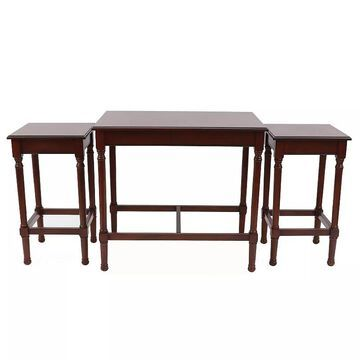 Decor Therapy Miranda Nesting End Table 3-piece Set, Brown