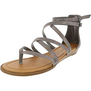 Blowfish Women's Bungalow Metallic Faux Leather Mid-Top Wedged Sandal