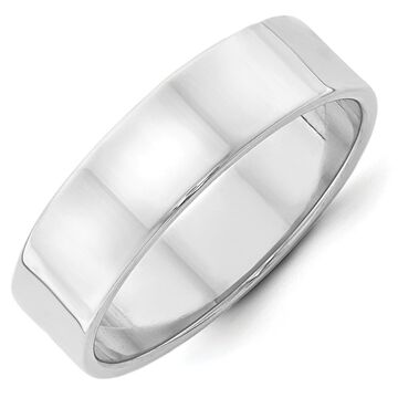Versil 14 Karat White Gold 6mm Lightweight Flat Band