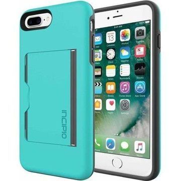 Incipio Stowaway Case for Apple iPhone 6 Plus, iPhone 6S Plus, and iPhone 7 Plus, Turquoise/Charcoal