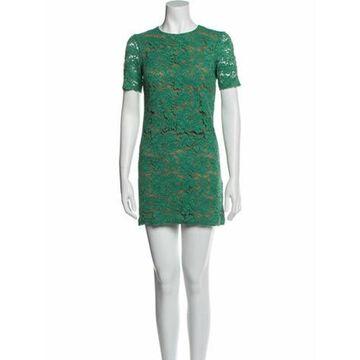 Msgm Lace Pattern Mini Dress Green Msgm Lace Pattern Mini Dress