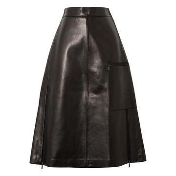 Acne Studios - Ligrid Paneled Leather Skirt - Black