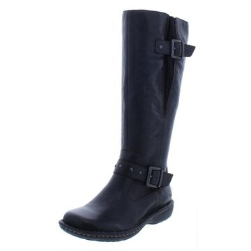 B.O.C. Womens Austin Riding Boots Leather Buckle