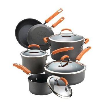 Rachael Ray Hard Anodized 10-Piece Cookware Set