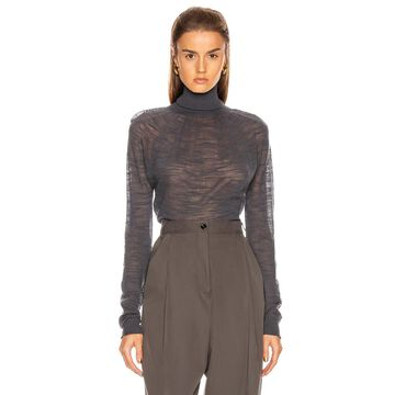 Lemaire Light Turtleneck Top in Stone Grey | FWRD