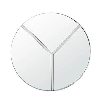 Lyra 30-inch Polished Nickel Round Accent Mirror - Polished Nickel