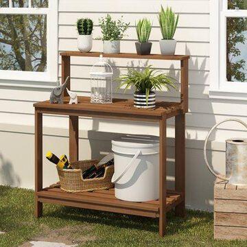 Furinno Tioman Outdoor Natural Wood Potting Bench