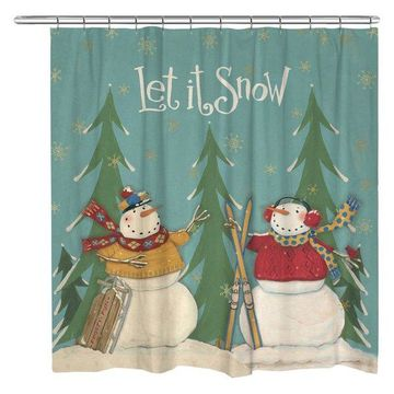 Laural Home Let It Snow Shower Curtain