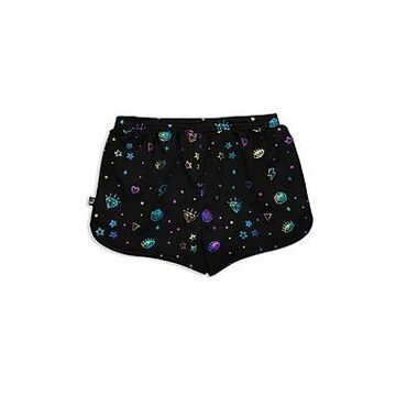 Terez Girls' Foil Print Shorts - Little Kid, Big Kid