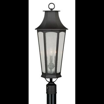 Vaxcel Lighting T0118 Preston 3 Light Outdoor Post Light (Post Not Included) with Photocell New Bronze Outdoor Lighting Post Lights Single Head Post