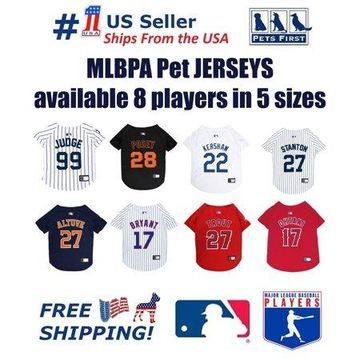 Pets First MLBPA Giancarlo Stanton Mesh Jersey for Dogs and Cats - Licensed Soft Poly-Cotton Jersey