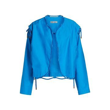 Issey Miyake Temporary Room Convertible Rope-Trimmed Jacket