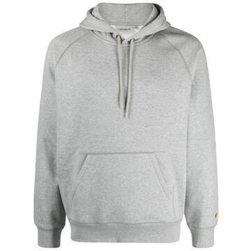 logo-sleeve detail hoodie