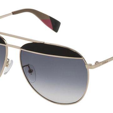 Furla SFU236 0492 Men's Sunglasses Gold Size 59