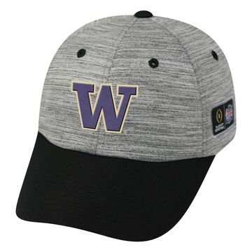 Washington Huskies Top of the World College Football Playoff 2016 Peach Bowl Bound Structured Adjustable Hat - Heathered Gray/Black