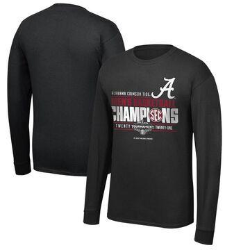 Men's Top of the World Black Alabama Crimson Tide 2021 SEC Men's Basketball Conference Tournament Champions Locker Room Long Sleeve T-Shirt