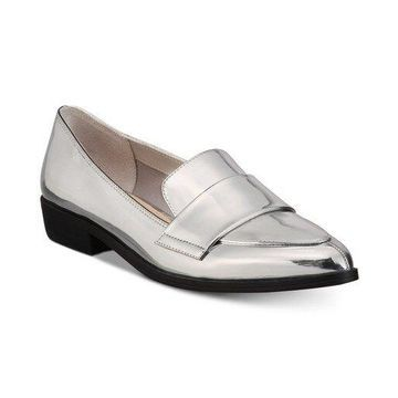 Bar III Womens Involve Leather Pointed Toe Loafers