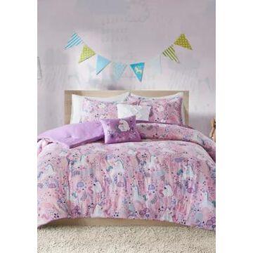 Jla Home Lola Unicorn Comforter Set - -