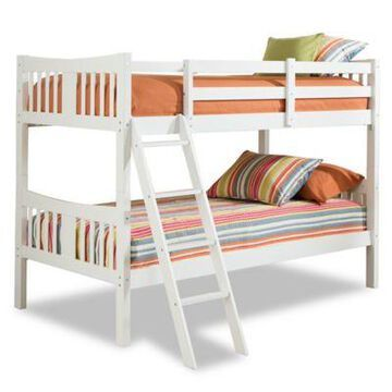 Storkcraft Caribou Twin Bunk Bed in White